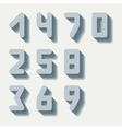 Number icons set vector image vector image