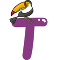 T for toucan vector image vector image
