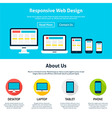 Responsive Flat Web Design Template vector image
