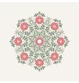 Vintage round flower for design vector image vector image