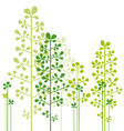 abstract green trees vector image