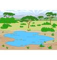 beautiful landscape savannah vector image