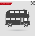 black Double decker bus icon vector image