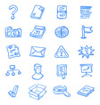 Blue web icons vector image