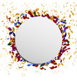 Celebration banner with confetti vector image