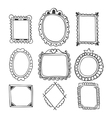 Collection of hand drawn frames Vintage photo vector image