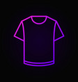 colorful t-shirt linear icon vector image