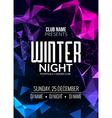 Dance party dj battle poster design Winter disco vector image