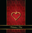 Elegant classic valentines day background vector image