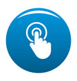 hand cursor click icon blue vector image