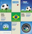 Modern blue soccer background vector image