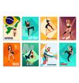 modern dances cards vector image