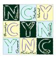 NYC print design district 3 vector image