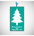 Paper cardboard Christmas card vector image