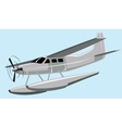 seaplane vector image