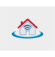 Wireless house symbol wifi house icon vector image