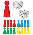 board game figures with dices vector image vector image