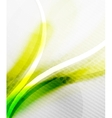 Green and yellow wave layout vector image vector image