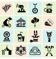 Circus icons set black vector image