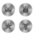 Silver insignia icon set vector image