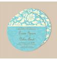 round wedding card blue vector image