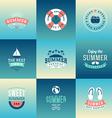 Set of Design Elements Retro Summer Holidays vector image