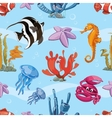 Underwater seamless background with sea vector image