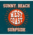 Vintage beach poster vector image