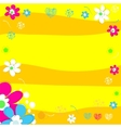 Bright wedding invitation in vector image