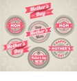 Calligraphic Design Elements mothers day vector image