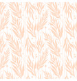 hand drawn nature leaf seamless pattern vector image