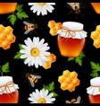 Honey seamless pattern vector image