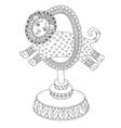line art of circus theme - a lion vector image