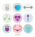 Set of sport healthy lifestyle and fitness vector image