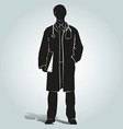 Silhouette of doctor vector image