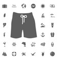 swim suit icon vector image