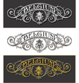 Vintage Belgium Label Banner Withe Black and Gold vector image