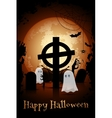 Halloween Zombie Party Poster Template vector image