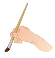 Hand With Brush vector image vector image