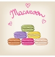 Stack of cute colourful macaroons vector image