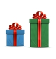 Gift boxes with a bow vector image