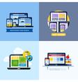 Modern flat concepts of responsive web design vector image