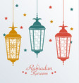 Intricate Colorful Arabic Lamps vector image vector image