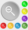 Magnifier glass Zoom tool icon sign Symbols on vector image