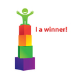 business i am a winner vector image vector image