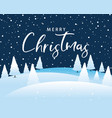 christmas calligraphy with tree and snowflakes vector image