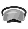 Dive mask icon gray monochrome style vector image