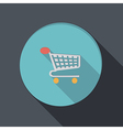 paper flat icon cart online store vector image