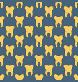 seamless pattern with many yellow teeth vector image