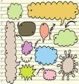 sketchy bubble speech vector image